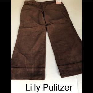 Lilly Pulitzer Capris pants size 6 ,chocolate